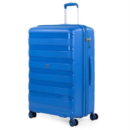 16127002  Maleta grande Expandible Jaslen Roma  Polipropileno azul
