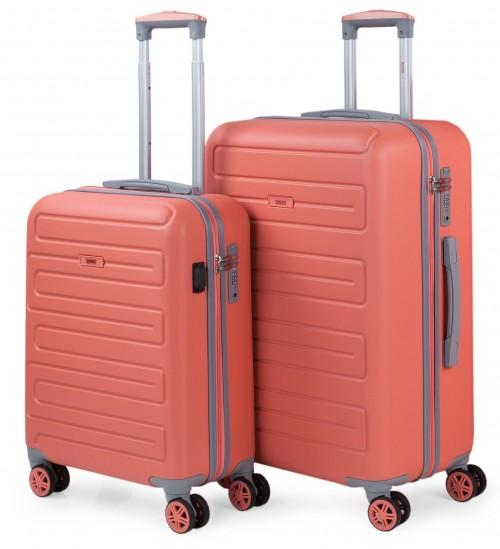 17501502  juego maletas cabina y mediana skpat mónaco coral