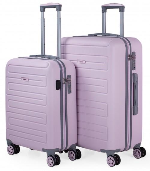 17501503 juego maletas cabina y mediana skpat mónaco rosa