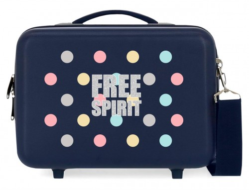 3063922 neceser rígido abs adaptable a trolley movom free dots azul