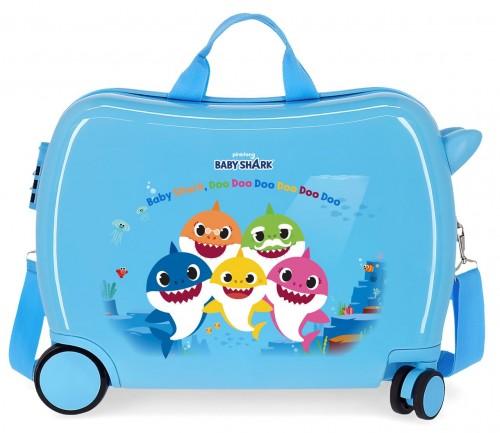 4159821 Maleta Infantil Baby Shaark Family
