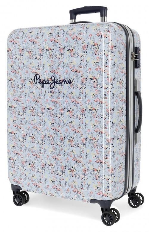 6021821 maleta mediana expandible en abs pepe jeans malila