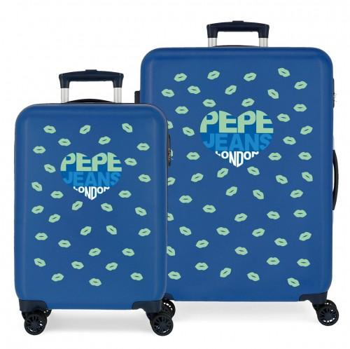 6041921 juego maletas cabina y mediana pepe jeans ruth