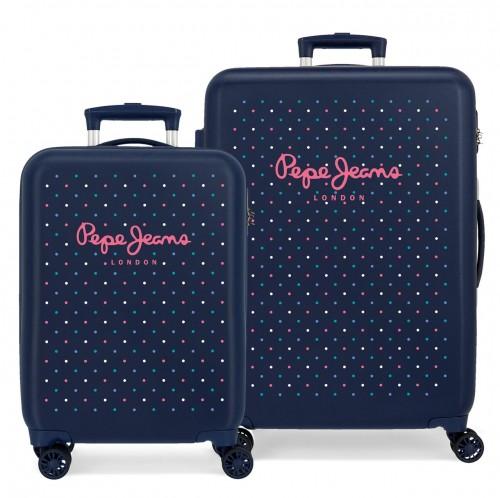 6061921 juego/2 maletas cabina y mediana pepe jeans molly