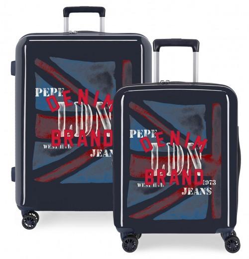 7419723 Juego Maletas Cabina y Mediana Pepe Jeans Chad