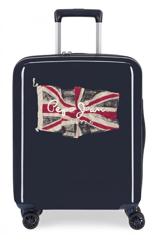 7679321 maleta de cabina pepe jeans flag azul marino