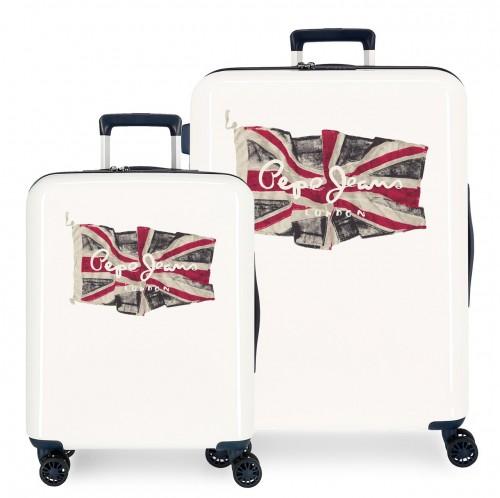 7679722 set maleta cabina y medina pepe jeans flag