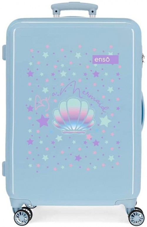 9051822  maleta mediana enso be a mermaid en azul