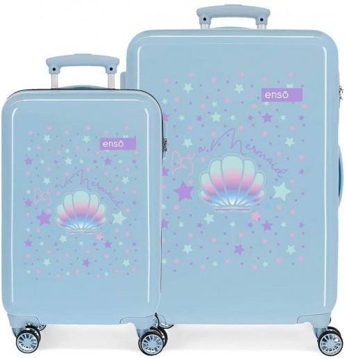 9051922  juego maleta cabina y mediana enso be a mermaid en azul