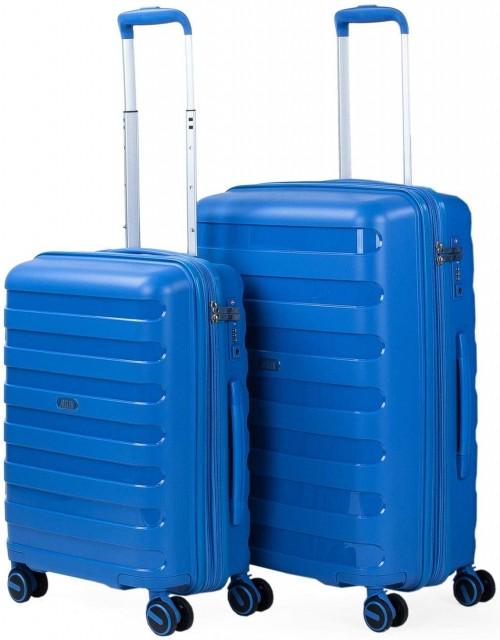 16121502 Juego Maletas Cabina y Mediana Jaslen Roma azul