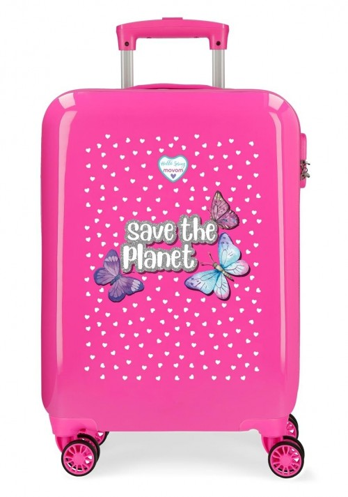2011722 maleta cabina save the planet fucsia