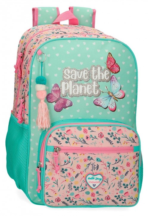 20124D1 mochila grande 45cm doble comp. adaptable  movom save the planet
