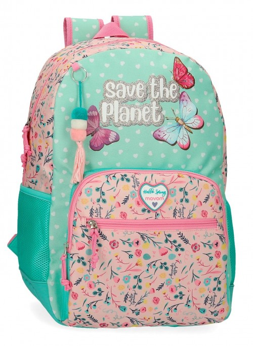 2012521 mochila 44cm adaptable movom save the planet