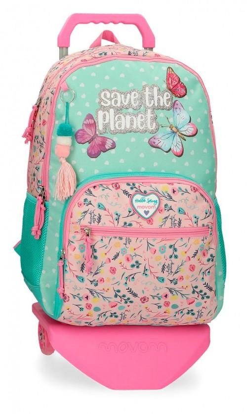 20126T1 2012621 mochila 44cm doble c.  con cantoneras  y carro movom save the planet