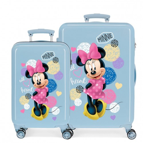 2051623 set maleta cabina y mediana love minnie