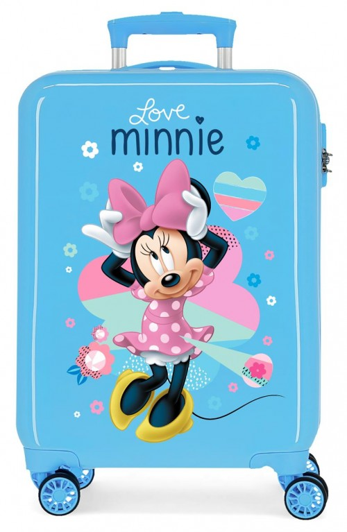 2051724 maleta cabina love minnie azul