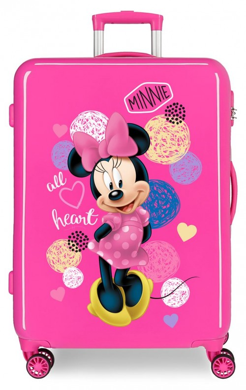 2051821 maleta mediana love minnie rosa