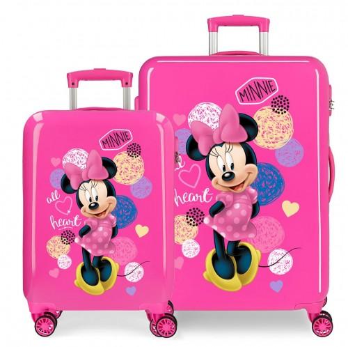 2051921 juego maletas cabina y mediana love minnie