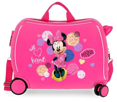 2059821 maleta infantil rígida love minnie