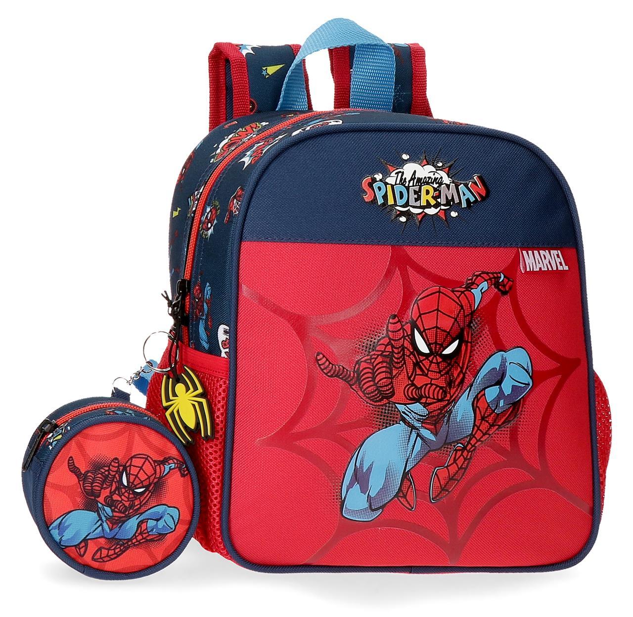 2072021 mochila pequeña 25cm spiderman pop