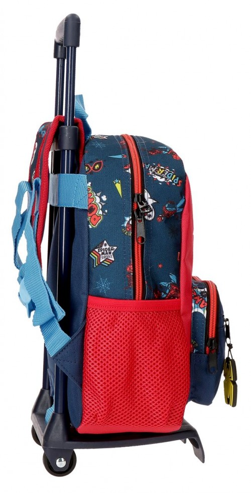 20721T1 mochila pequeña 28cm con carro spiderman pop