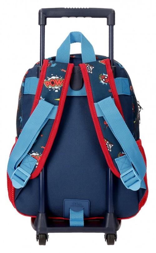 20722T1  mochila 32cm con carro spiderman pop