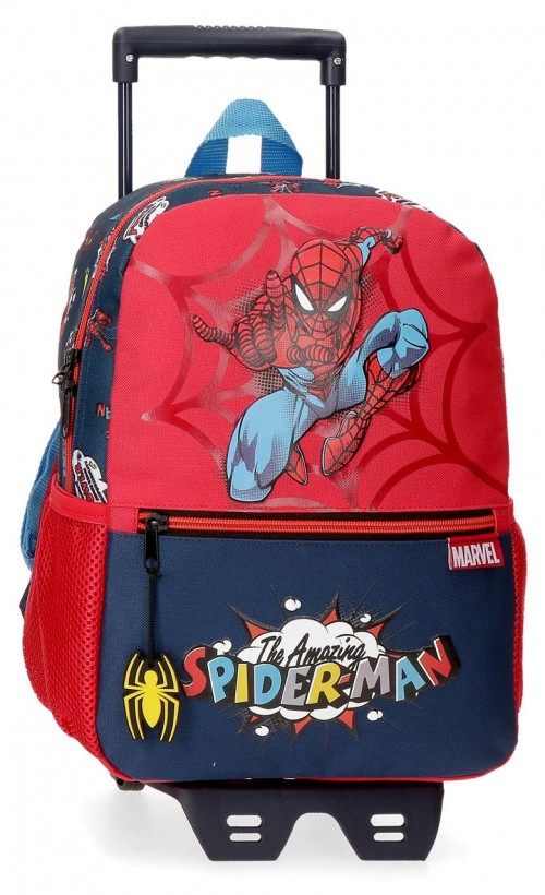 20722T1  mochila 32cm con carro spiderman pop