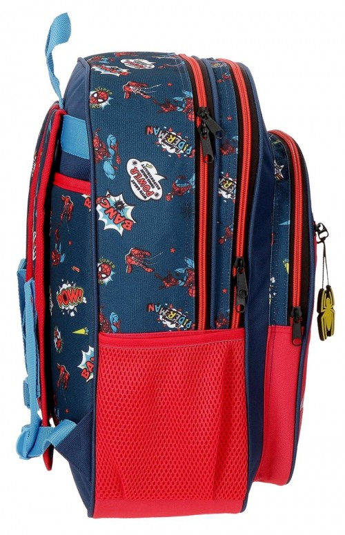20724D1 mochila grande 40cm doble comp. spiderman pop