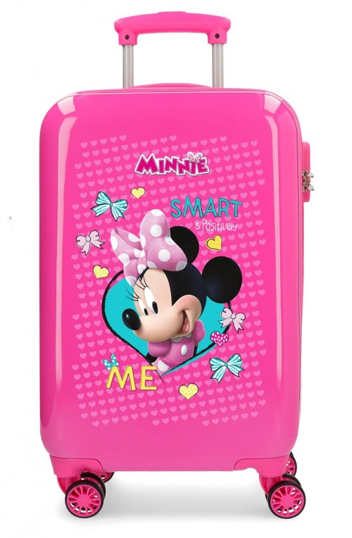 22314E1 maleta de cabina minnie Happy Helpers rosa