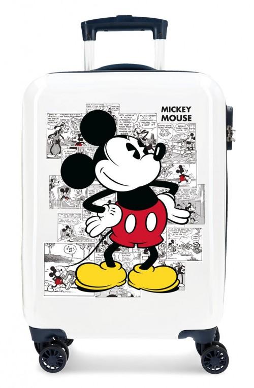 2231721 maleta de cabina Mickey Comic Blanca