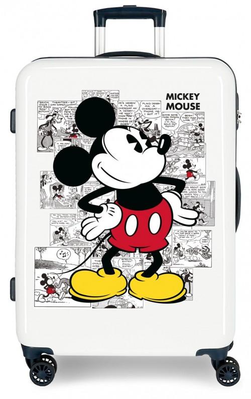 2231821 maleta mediana mickey comic blanca