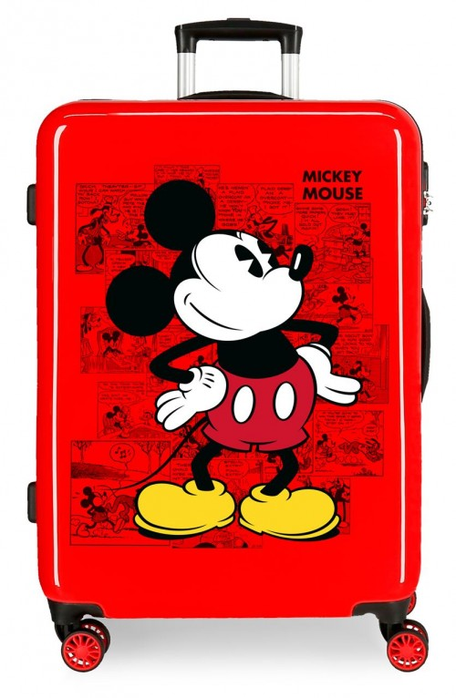 2231822 maleta mediana  mickey comic rojo