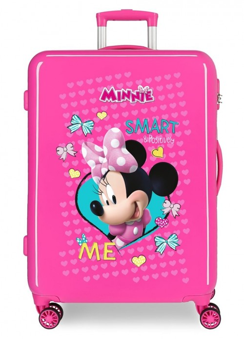22318E1 maleta mediana  Minnie Happy Helpers color rosa