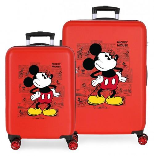 2231922 juego maletas cabina y mediana mickey comic rojo