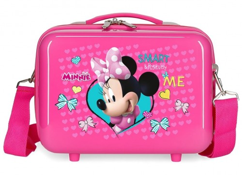 22339E1 neceser rígido  Minnie Happy Helpers rosa