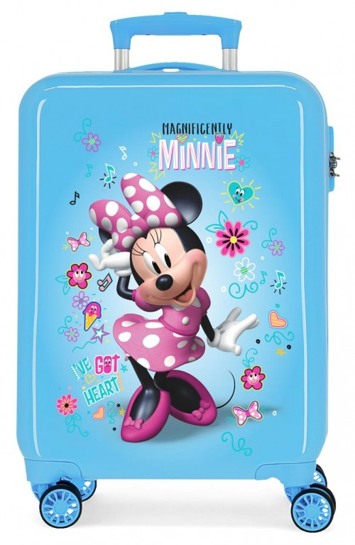 2331764 maleta cabina minnie stickers azul