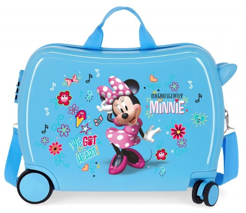 2339864 maleta infantil minnie stickers azul