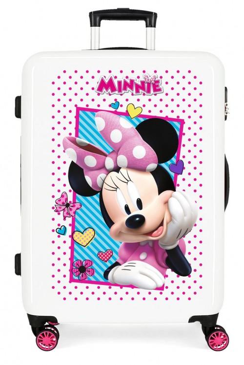 2391862 maleta infantil - trasera fucsia - cabina joy minnie