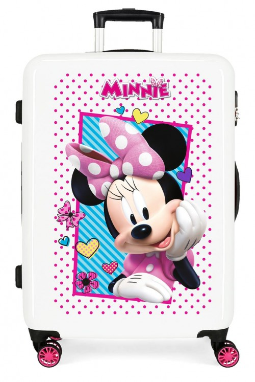 2391862 maleta infantil - trasera fucsia - mediana joy minnie