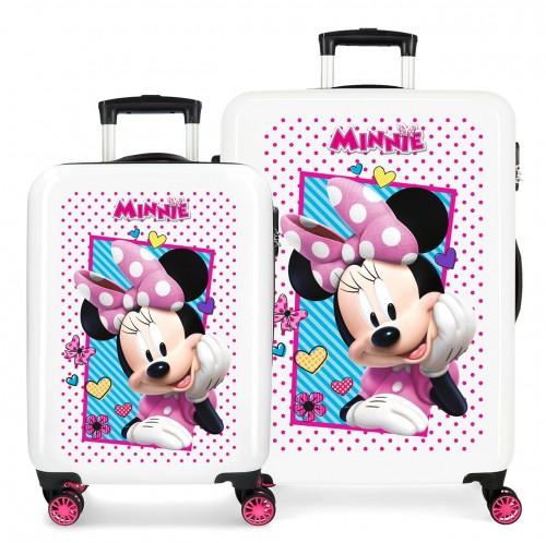 2391962 juego maletas - trasera fucsia - cabina y mediana joy minnie