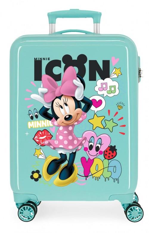 2561763 maleta de cabina minnie icon turquesa