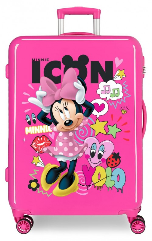 2561861 maleta mediana enjoy minnie icon fucsia