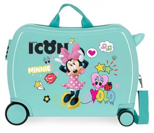 2569863 maleta infantil minnie icon turquesa