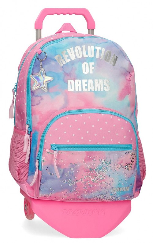 30226T1 mochila 44cm doble comp. con carro y cantoneras  movom revolution dreams