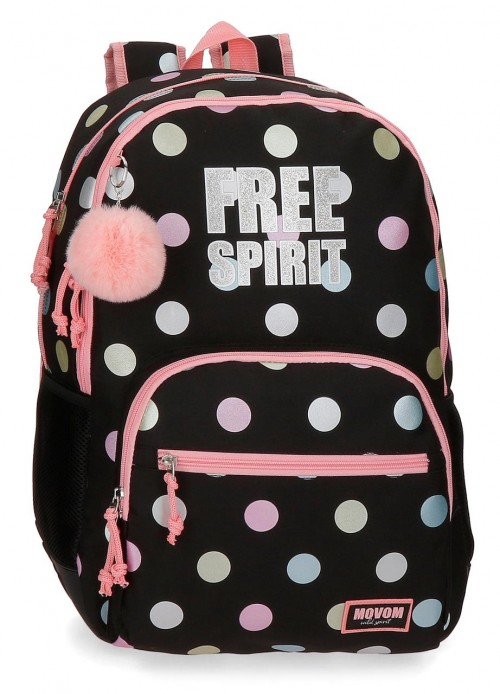 3062621 mochila 44cm doble comp. adaptable y reforzada movom free dots