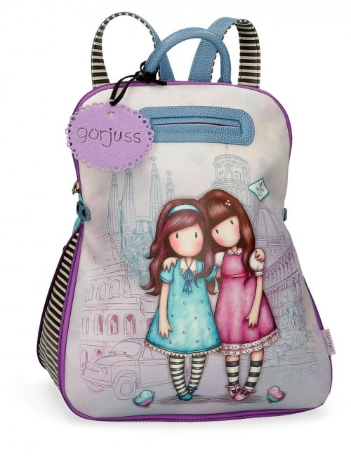 3082221 mochila 38cm gorjuss friend walk together