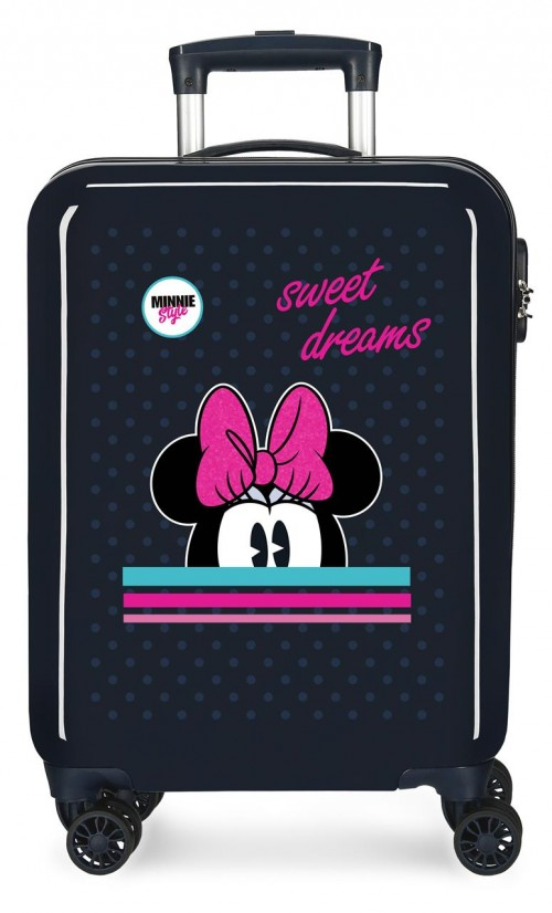 4171721 maleta de cabina en abs pc film sweet dreams minnie