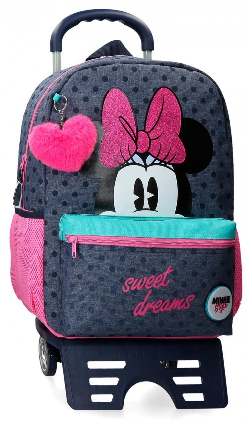 41724T1 mochila 42 cm con carro Sweet Dreams Minnie
