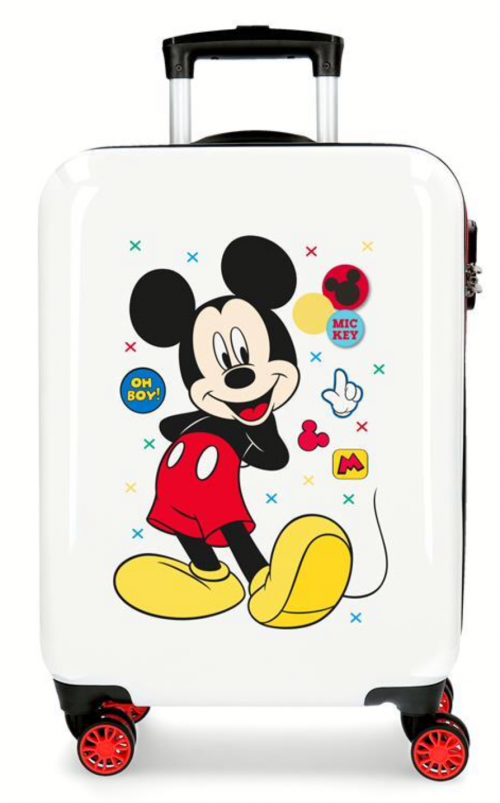 4681761 maleta de cabina mickey enjoy the day oh boy blanca
