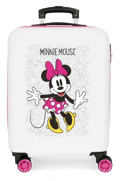 4681764 maleta cabina minnie enjoy the day blanco